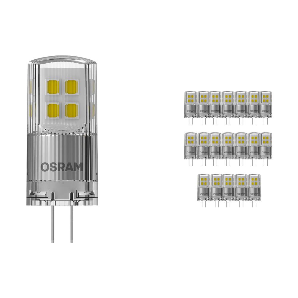 Voordeelpak 20x Osram Parathom LED PIN G4 2W 827 | Dimbaar - Zeer Warm Wit - Vervangt 20W
