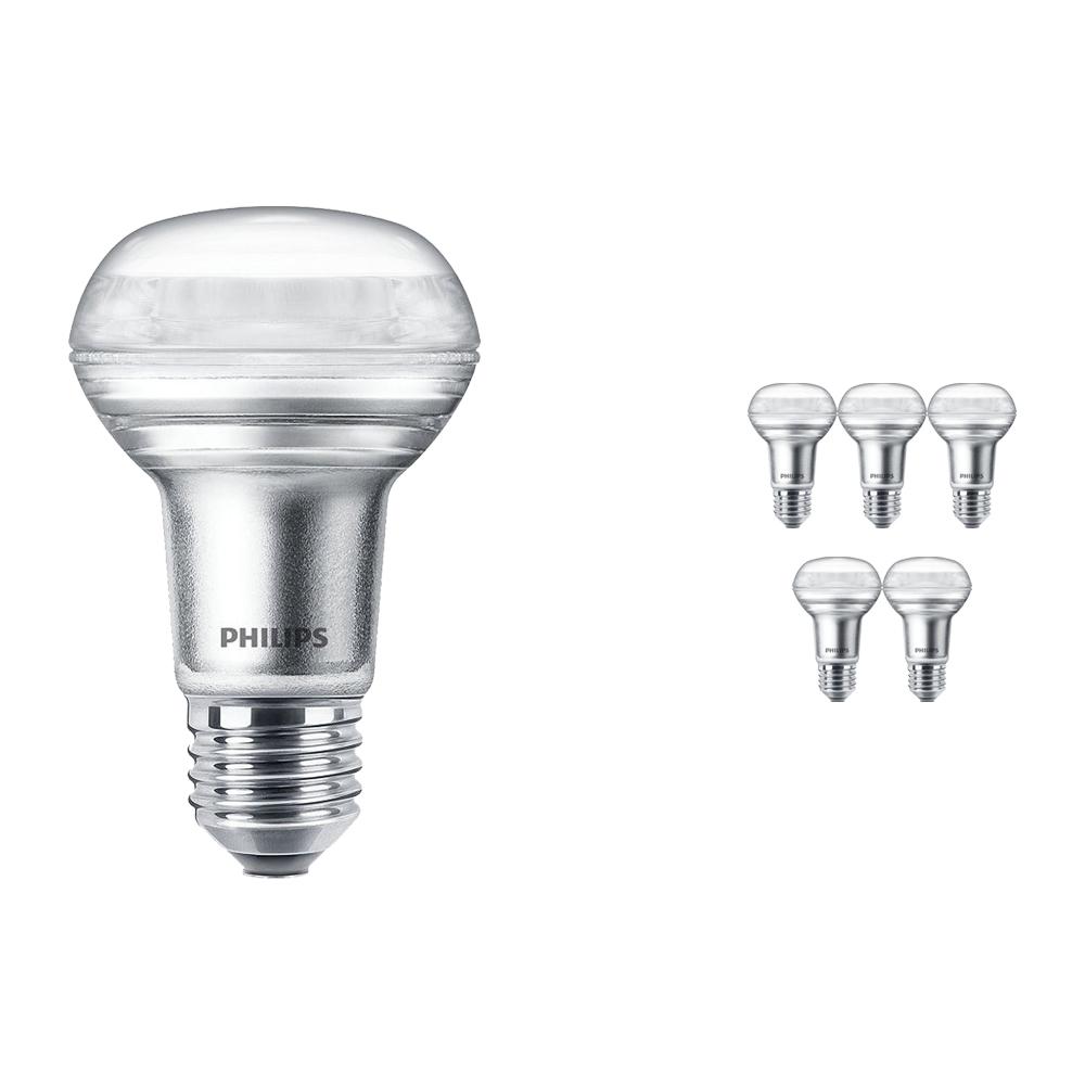 Voordeelpak 6x Philips CorePro LEDspot E27 Reflector R63 3W 827 36D | Zeer Warm Wit - Vervangt 40W
