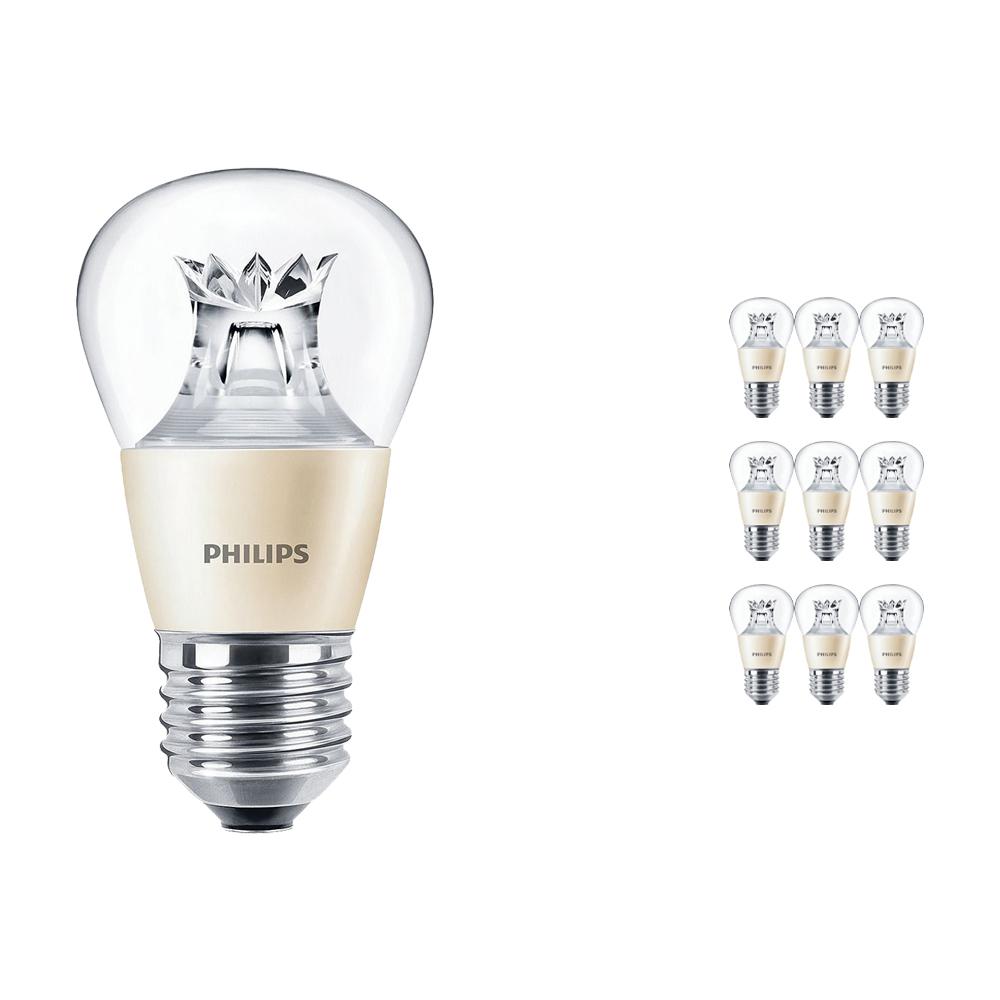 Voordeelpak 10x Philips LEDluster E27 P48 6W 827 Helder (MASTER) | DimTone Dimbaar - Vervangt 40W