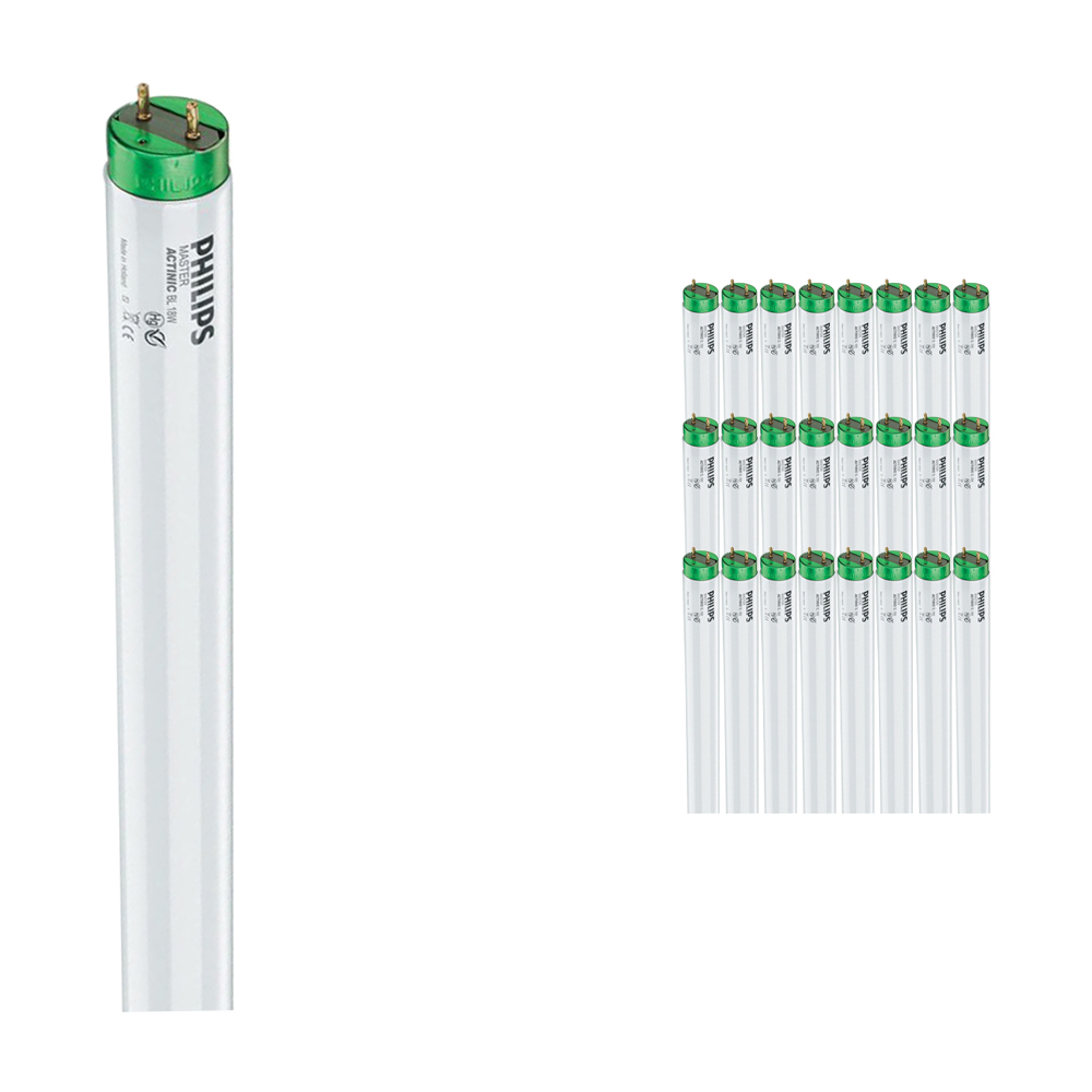 Multipack 25x Philips TL-D 15W 10 Actinic BL (MASTER) | 45cm