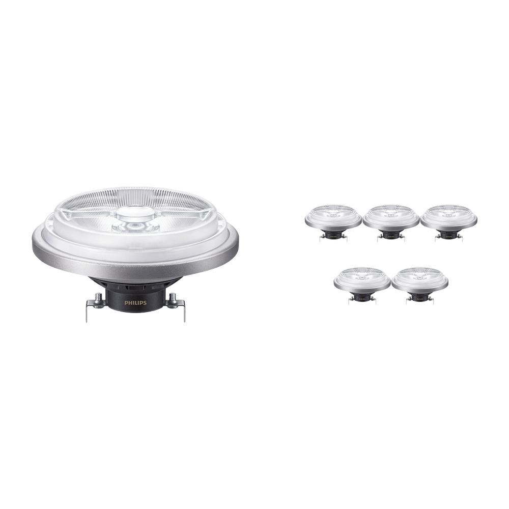 Voordeelpak 6x Philips LEDspot ExpertColor G53 AR111 (MASTER) 11W 927 8D | Beste Kleurweergave - Vervangt 50W