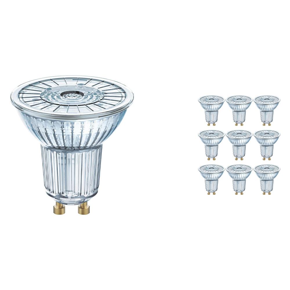 Voordeelpak 10x Osram Parathom GU10 PAR16 6.9W 830 36D | Warm Wit - Vervangt 80W