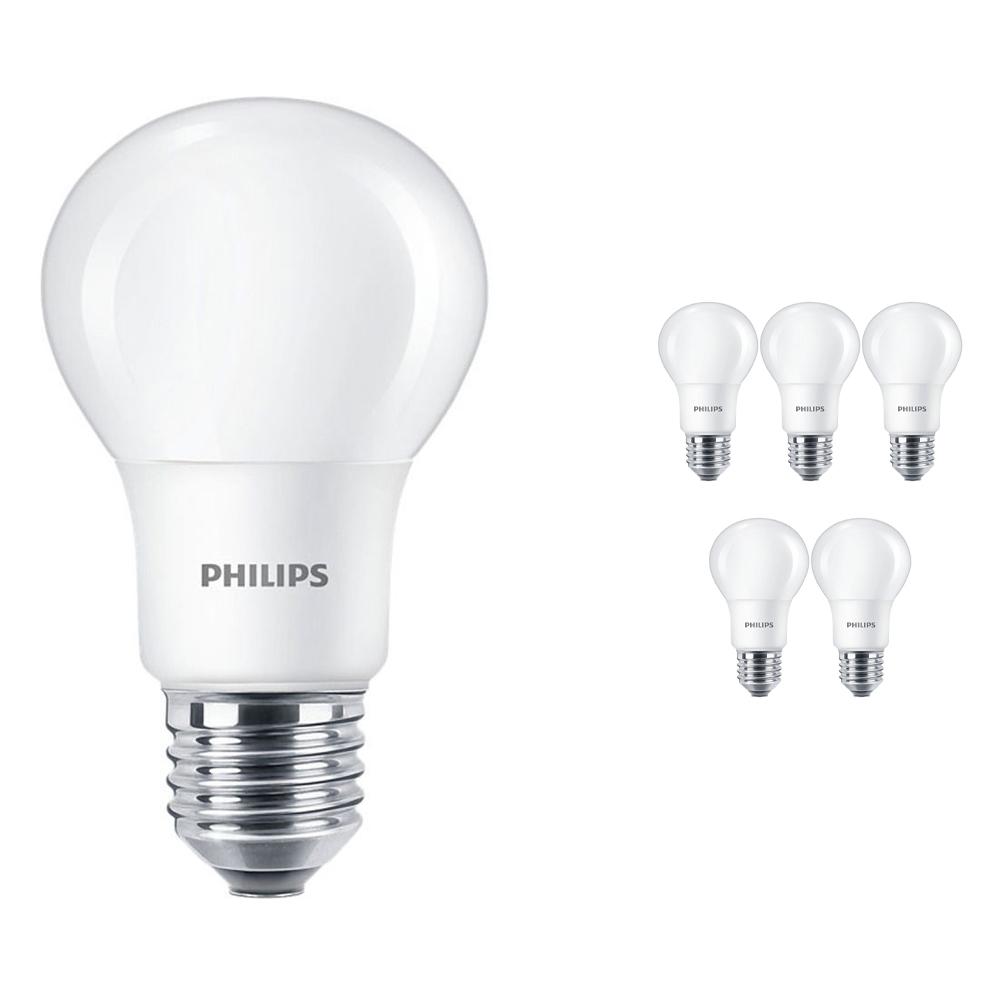 Voordeelpak 6x Philips CorePro LEDbulb E27 A60 5W 927 Mat | Beste Kleurweergave - Zeer Warm Wit - Dimbaar - Vervangt 40W