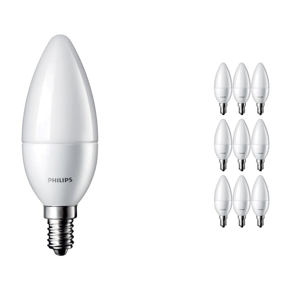 Voordeelpak 10x Philips CorePro LEDcandle E14 B35 5.5W 827 Matt | Vervangt 40W