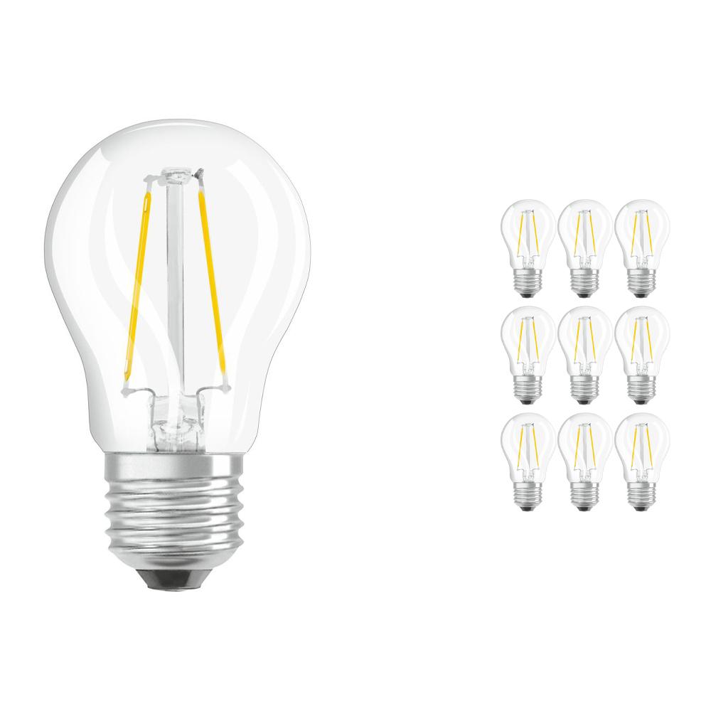 Voordeelpak 10x Osram Parathom Retrofit Klassiek E27 P 2.5W 827 Filament | Zeer Warm Wit - Vervangt 25W