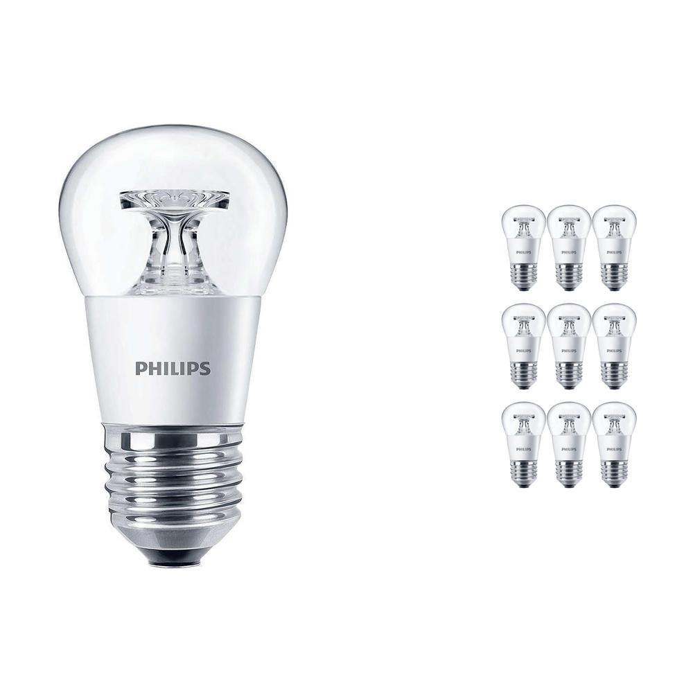Voordeelpak 10x Philips CorePro LEDluster E27 P45 4W 827 Helder | Vervangt 25W