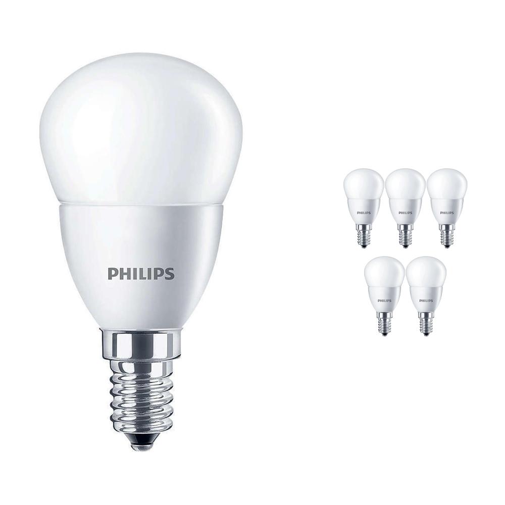 Voordeelpak 6x Philips CorePro LEDluster E14 P45 5.5W 827 Matt | Vervangt 40W