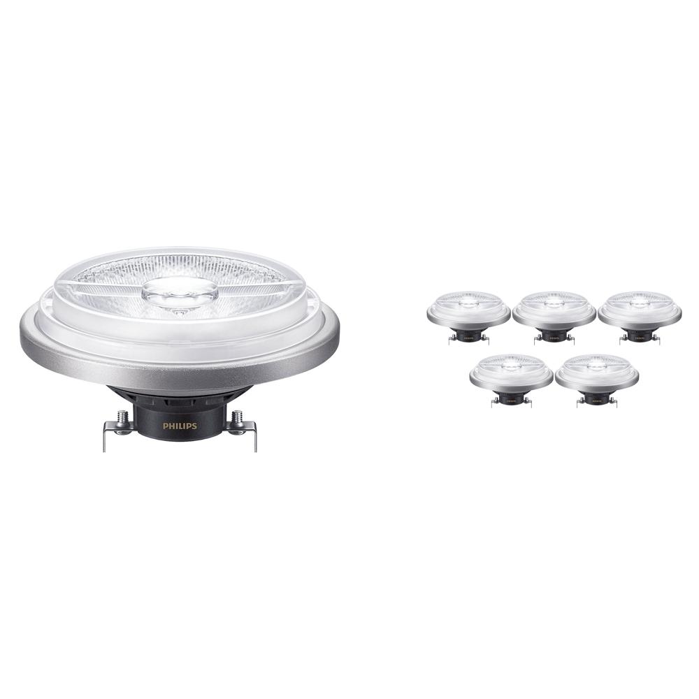 Voordeelpak 6x Philips LEDspot ExpertColor G53 AR111 (MASTER) 15W 927 40D | Dimbaar - Beste Kleurweergave - Vervangt 75W