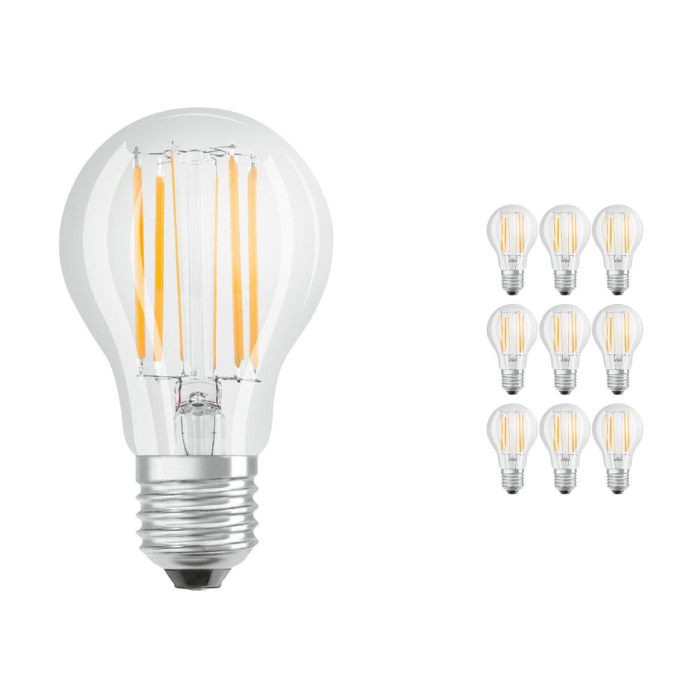 Voordeelpak 10x Osram Parathom Retrofit Klassiek E27 A 8.5W 827 Filament | Zeer Warm Wit - Vervangt 75W