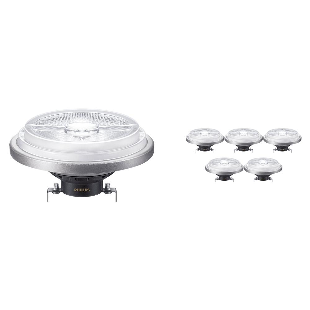 Voordeelpak 6x Philips LEDspot ExpertColor G53 AR111 (MASTER) 15W 940 40D | Dimbaar - Beste Kleurweergave - Vervangt 75W