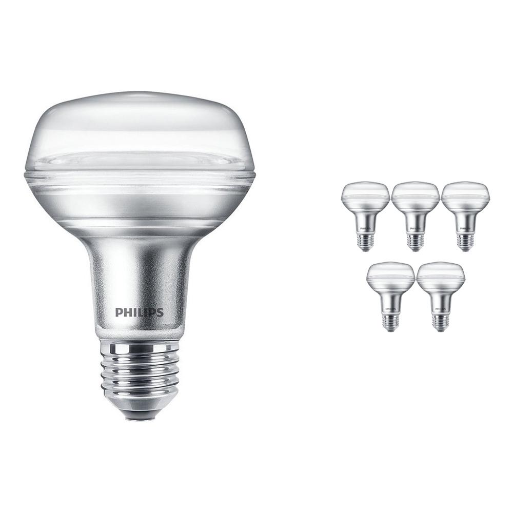 Voordeelpak 6x Philips CorePro LEDspot E27 Reflector R80 8W 827 36D | Zeer Warm Wit - Vervangt 100W