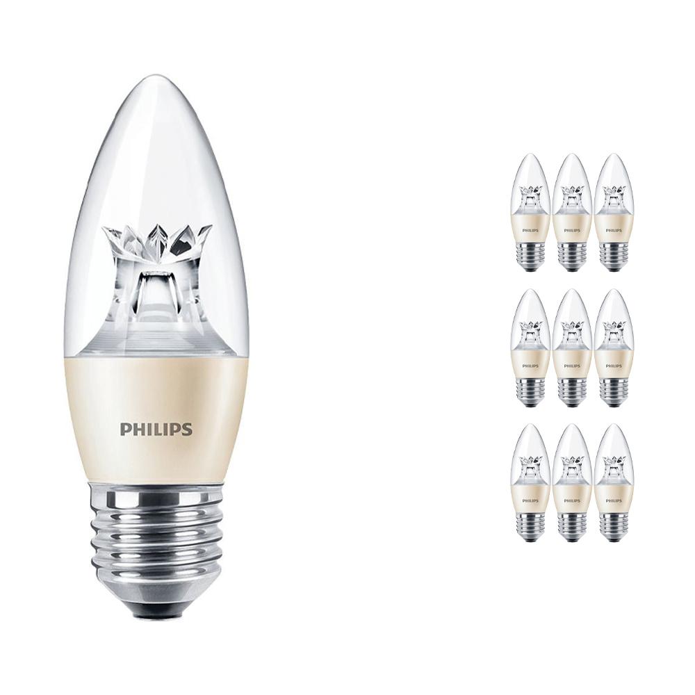 Voordeelpak 10x Philips LEDcandle E27 B38 6W 827 (MASTER) | DimTone Dimbaar - Vervangt 40W