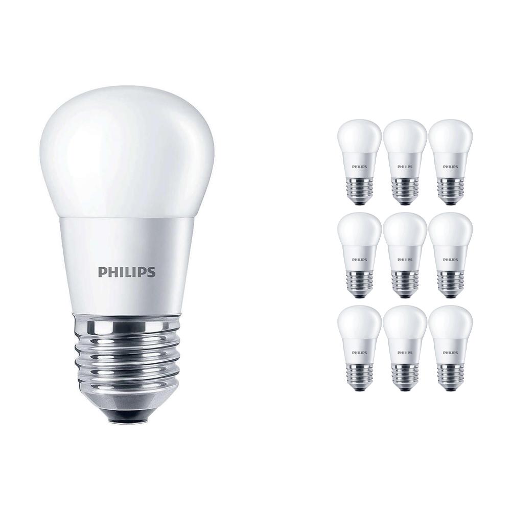 Voordeelpak 10x Philips CorePro LEDluster E27 P45 5.5W 827 Matt | Vervangt 40W
