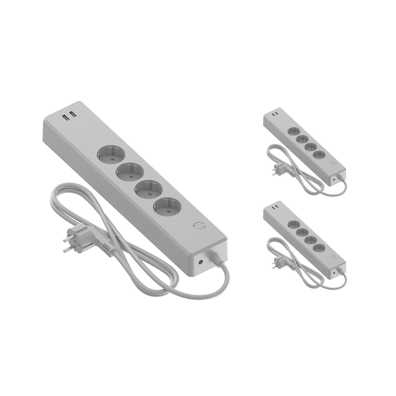 Voordeelpak 3x Calex Smart Stekkerdoos + USB EU | Tuya Wi-Fi