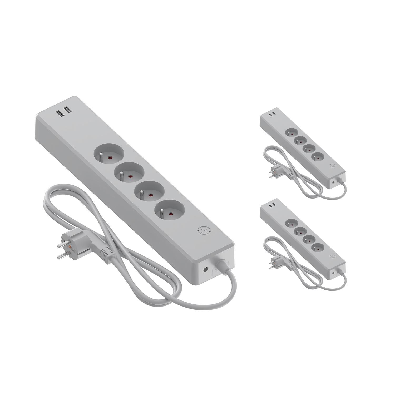 Voordeelpak 3x Calex Smart Stekkerdoos + USB BE-FR | Tuya Wi-Fi