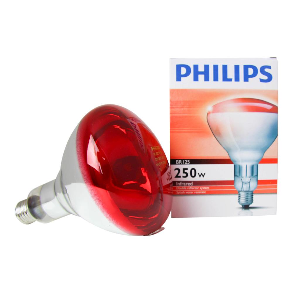 Philips BR125 IR 250W E27 230-250V Rood