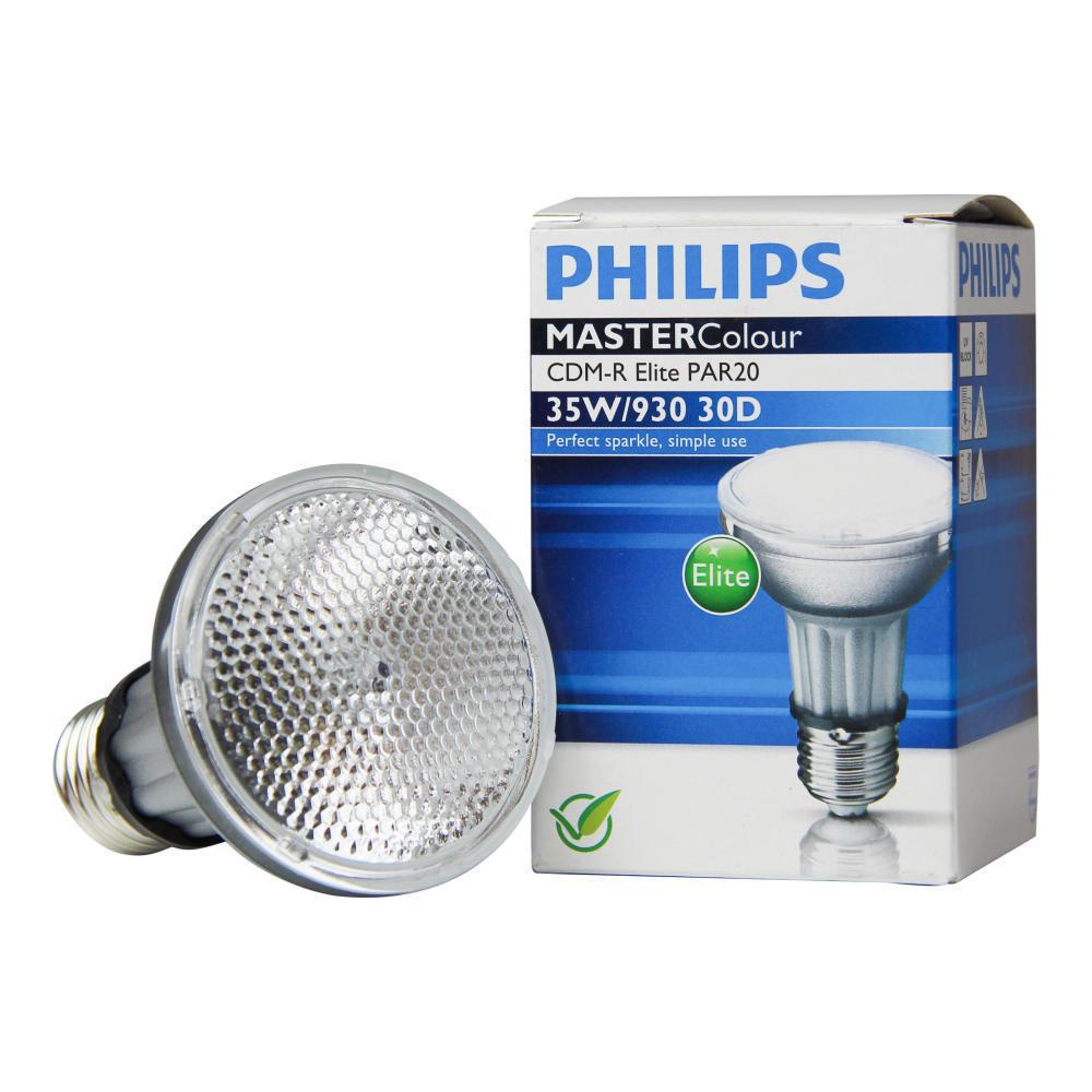 Philips MASTERColour CDM-R Elite 35W 930 E27 PAR20 30D | Warm Wit - Beste Kleurweergave