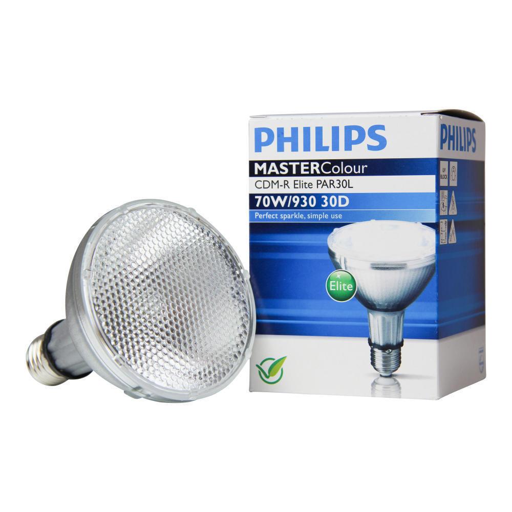 Philips MASTERColour CDM-R Elite 70W 930 E27 PAR30L 30D | Warm Wit - Beste Kleurweergave