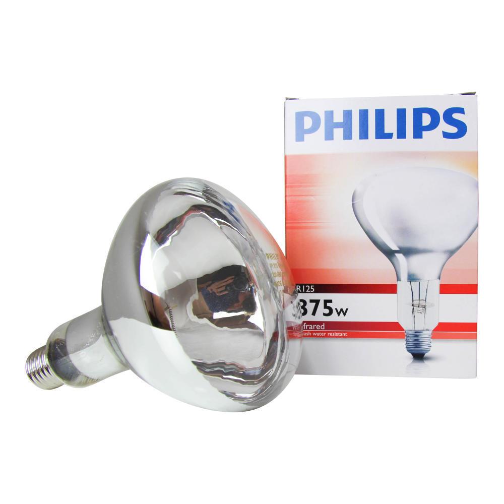 Philips R125 IR 375W E27 230-250V Helder
