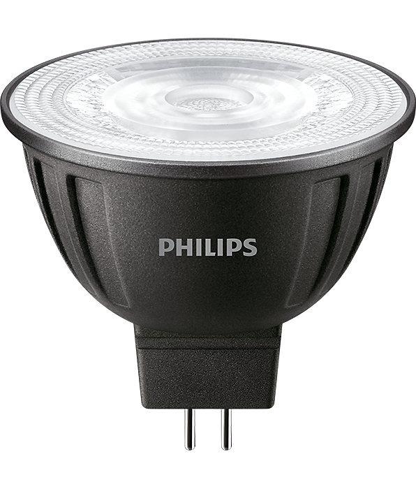 Philips LEDspot LV GU5.3 MR16 8W 827 36D (MASTER) | Extra Warm Wit - Dimbaar - Vervangt 50W