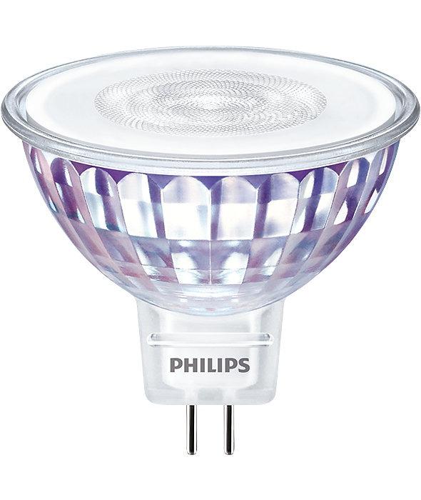 Philips LEDspot VLE GU5.3 MR16 7W 830 60D (MASTER)   Warm Wit - Dimbaar - Vervangt 50W