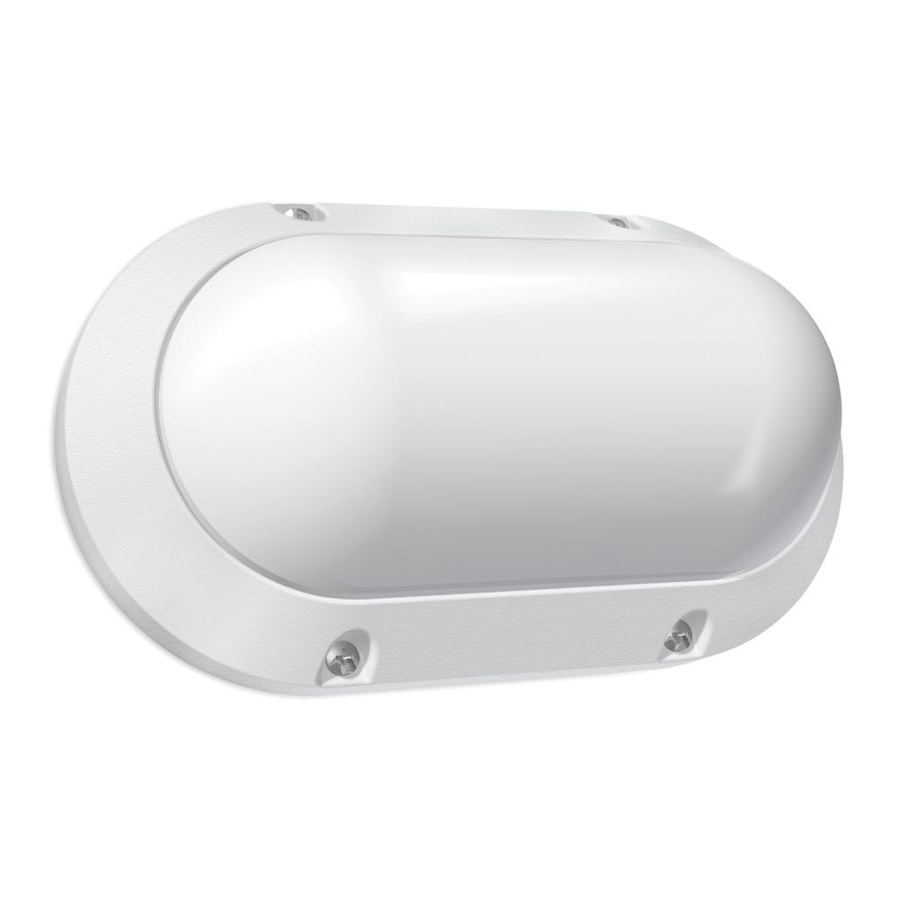 Lampdirect Blok Oval LED Wandlamp IP65 7W 840 550lm | Koel Wit