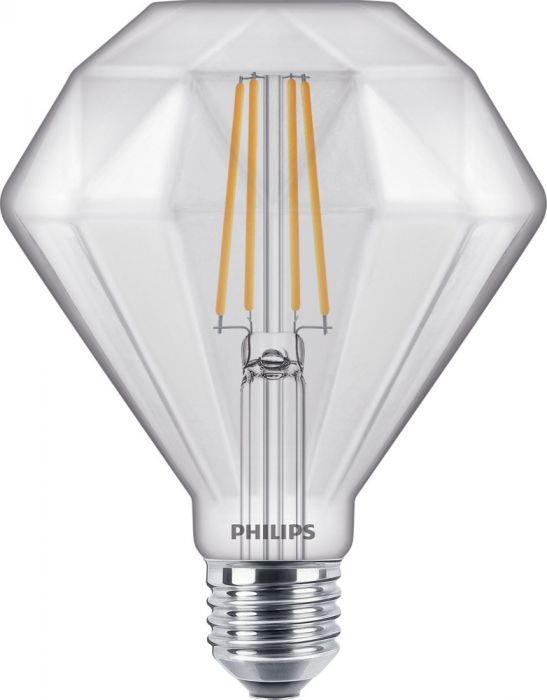 Philips LED lyspære LEDClassic 40W Diamond E27 2700K CL D