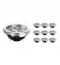 Mehrfachpackung 10x Noxion Lucent LED-Spot AR111 G53 Pro 12V 12W 930 40D| Warmweiß - Höchste Farbwiedergabe - Dimmbar - Ersatz für 50W