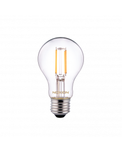 Noxion Lucent Classic LED Włókno A60 E27 5W 822-827 Przezroczysty   Ściemnianie - Bardzo Ciepła Biel - Zamienne 40W