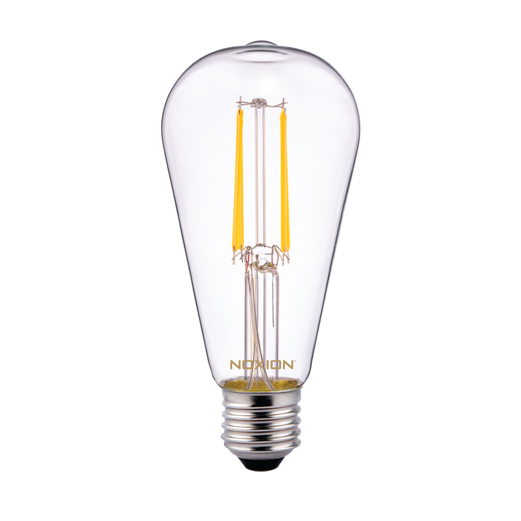 Noxion Lucent Classic LED Filament ST64 E27 6.5W 827 Clear | Extra Warm White - Replaces 60W