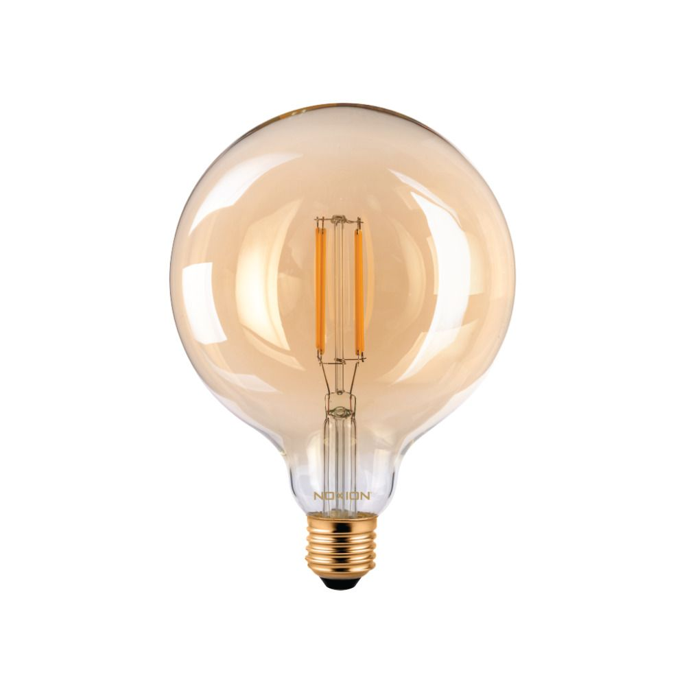Noxion PRO LED Globe Classic Filament G125 E27 8W 822 Amber | Extra Warm White - Dimmable - Replaces 60W