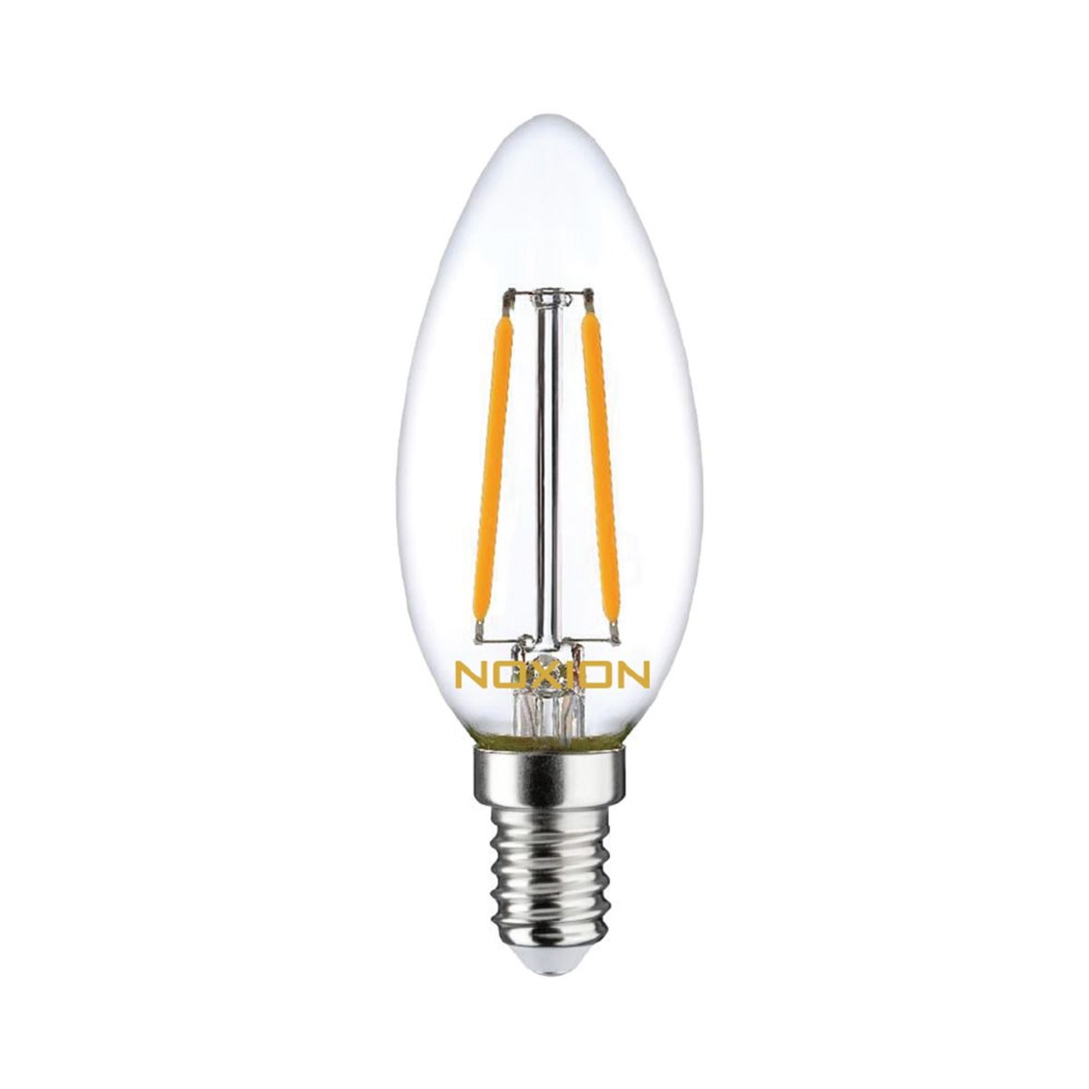 Noxion Lucent Filament LED Candle 2.5W 827 B35 E14 Clear | Dimmable - Replacer for 25W