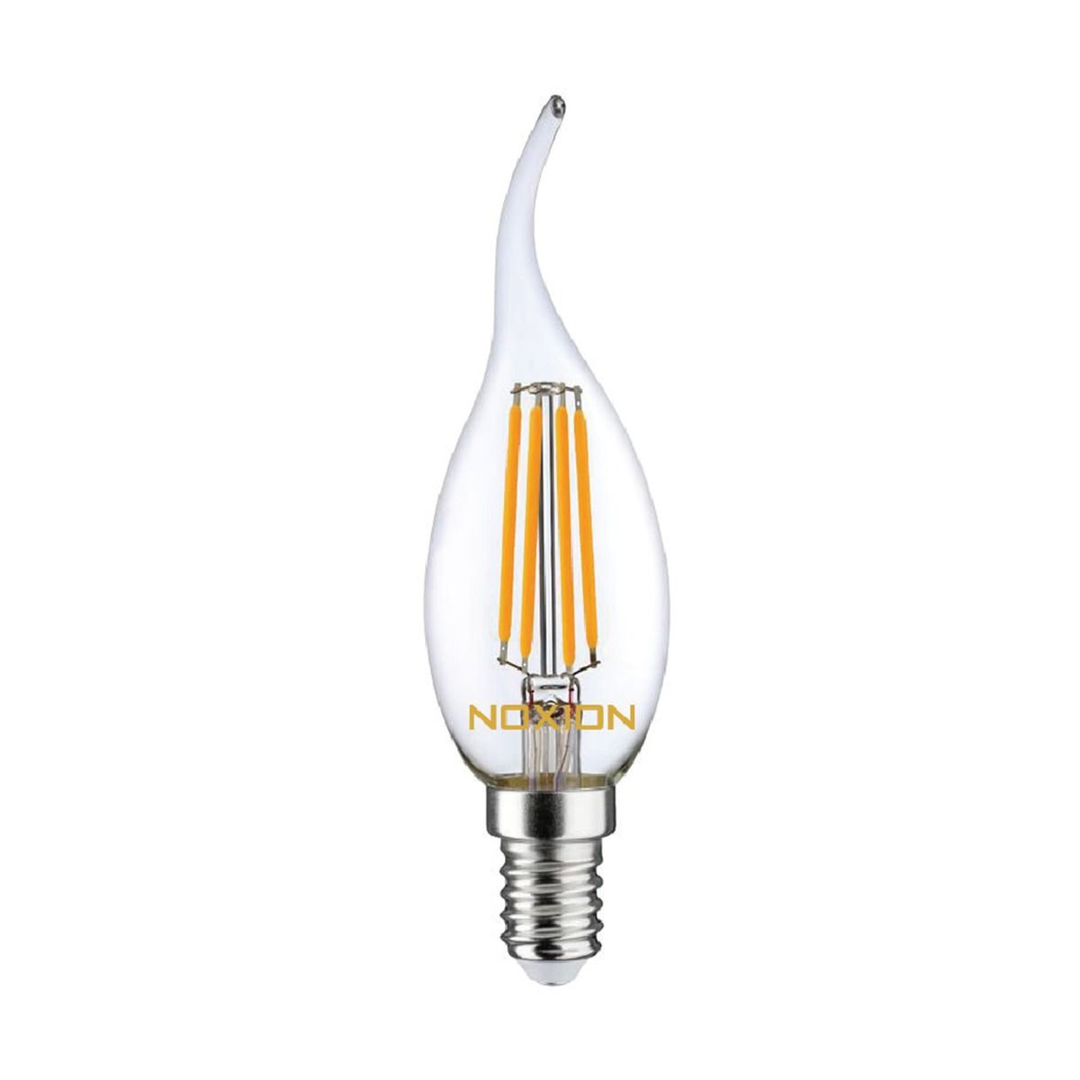 Noxion Lucent Filament LED Candle 4.5W 827 BA35 E14 Clear | Dimmable - Extra Warm White - Replaces 40W