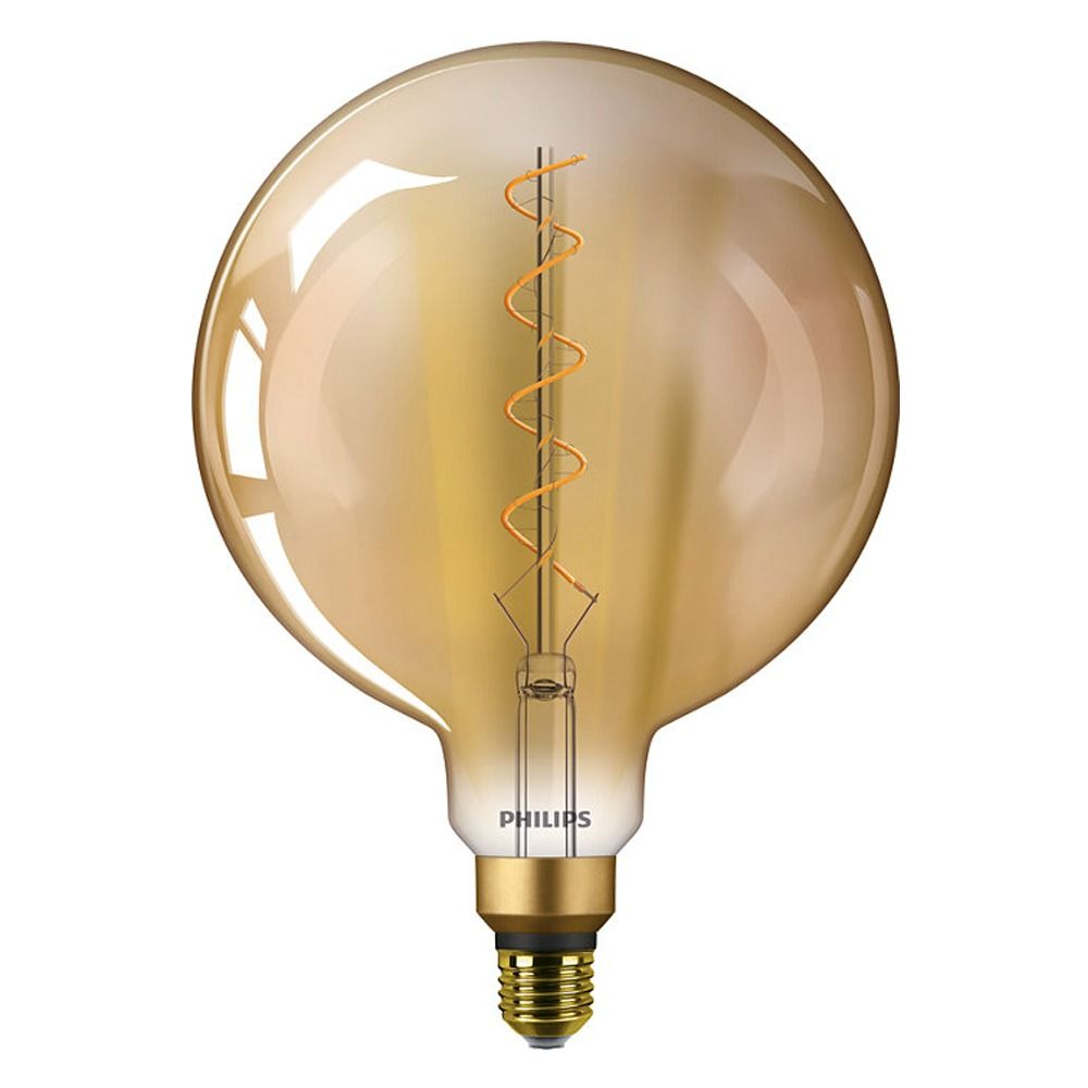 Philips Classic LEDglobe Vintage E27 G200 5W 820 Goud | Vervangt 25W