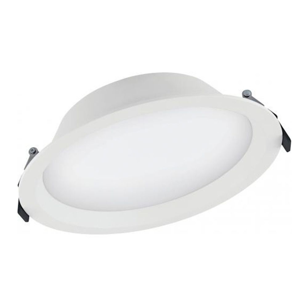 Ledvance Downlight LED Aluminum DN200 25W 830 IP44 | Blanc Chaud - Dali Dimmable - Substitut 2x16W