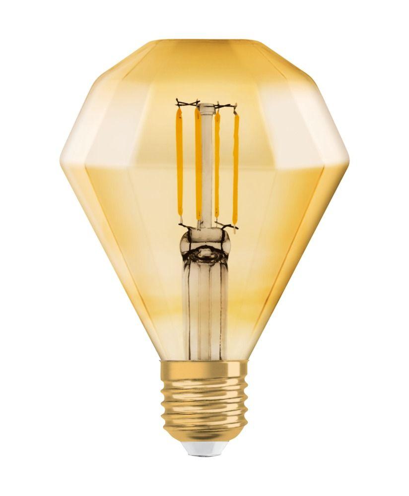 Osram Vintage 1906 LED E27 Diamond 4.5W 825 Złoty | Zamienne 40W