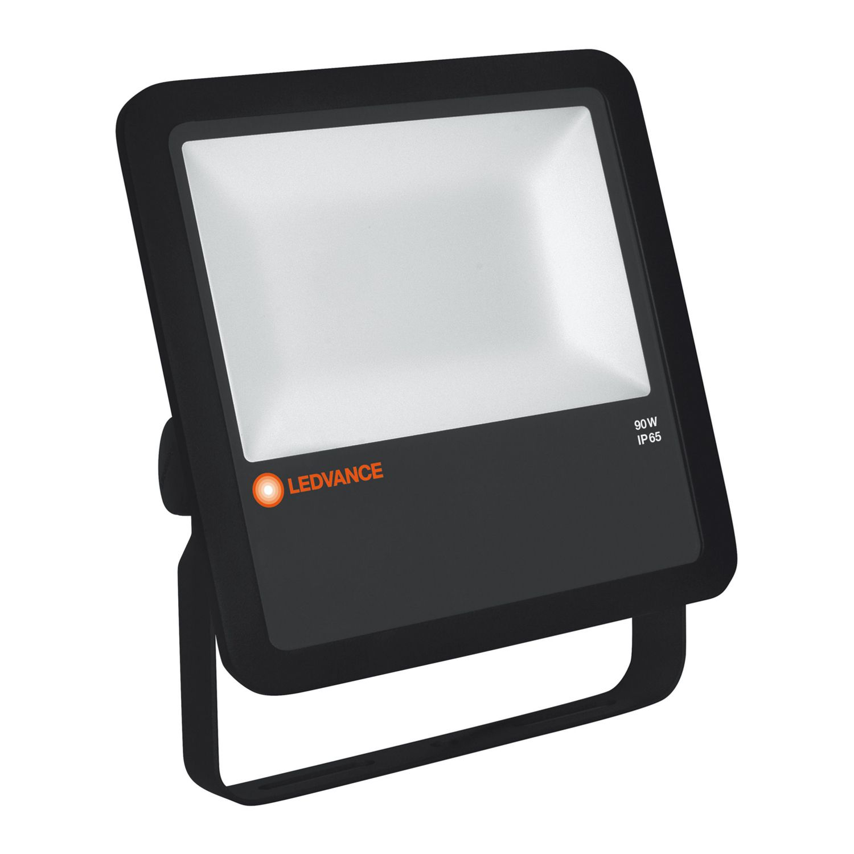 LEDVANCE LED flomlys 90W 4000K 10000lm IP65 svart | med sensor