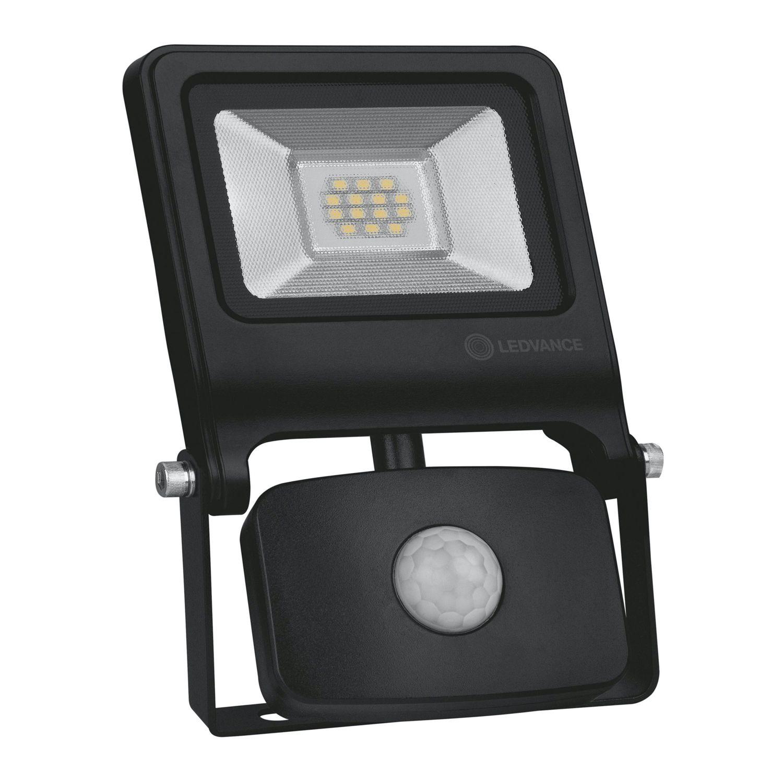 LEDVANCE LED Floodlight Value 10W 4000K 800lm IP44 Black | With Sensor