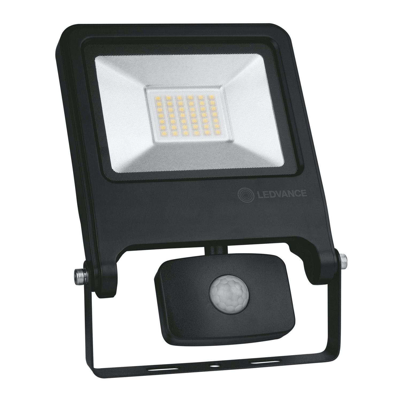 LEDVANCE LED Floodlight Value 30W 4000K 2700lm IP44 Black | With Sensor