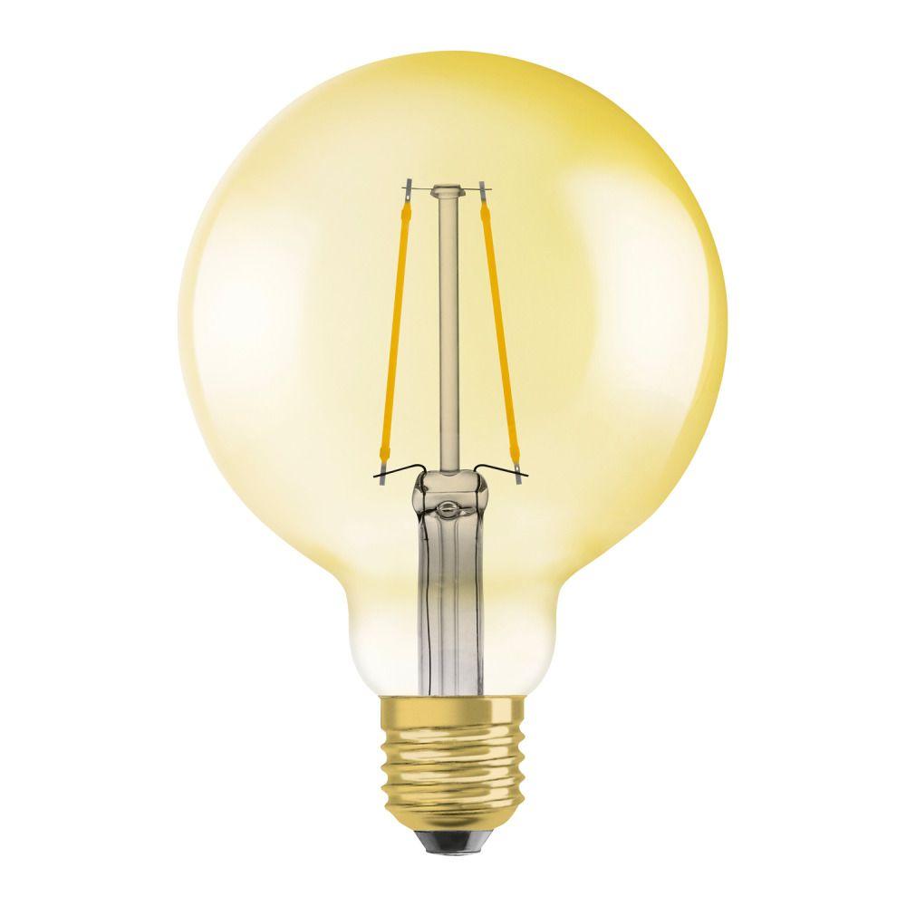 Osram Vintage 1906 LED E27 Globe 4W 824 Goud | Vervanger voor 35W