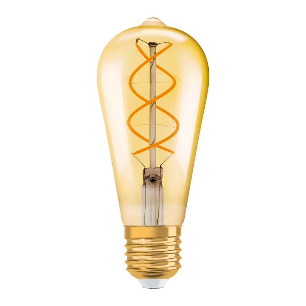 Osram Vintage 1906 LED E27 Edison 4.5W 820 Filament Gold | Dimmable - Replacer for 25W