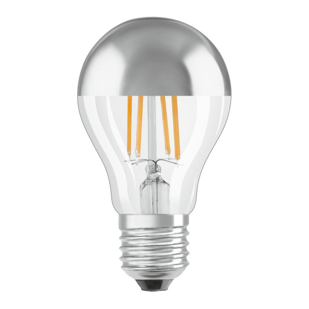 Osram Parathom Classic A E27 6.5W 827 Fadenlampe Silver Spiegel | Ersatz für 50W