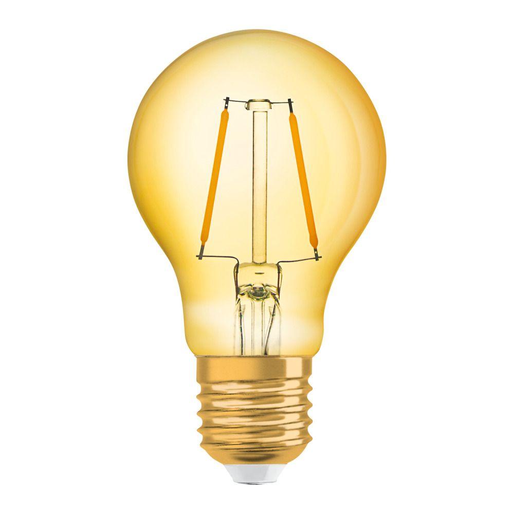 Osram Vintage 1906 LED Classic E27 A 2.5W 824 Filament Dorée | Remplacement 22W