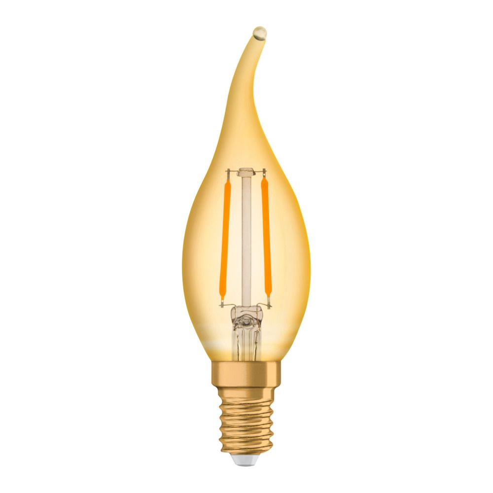 Osram Vintage 1906 LED Classic E14 BA 1.5W 824 Filament Gold | Replacer for 12W