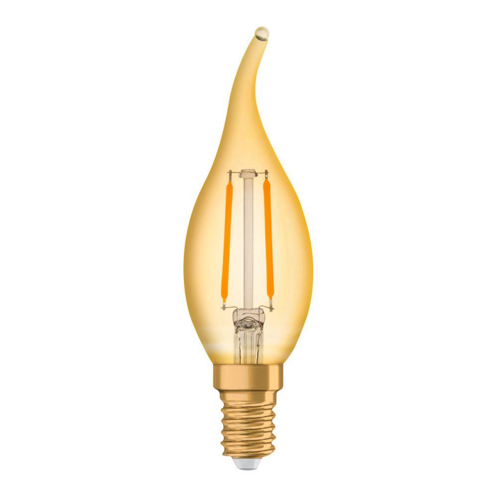 Osram Vintage 1906 LED Classic E14 BA 2.5W 824 Filament Dorée | Remplacement 22W