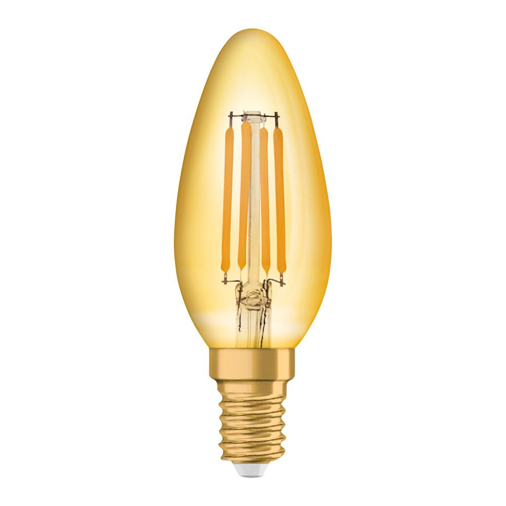 Osram Vintage 1906 LED Classic E14 B 4W 825 Filament Dorée   Remplacement 35W