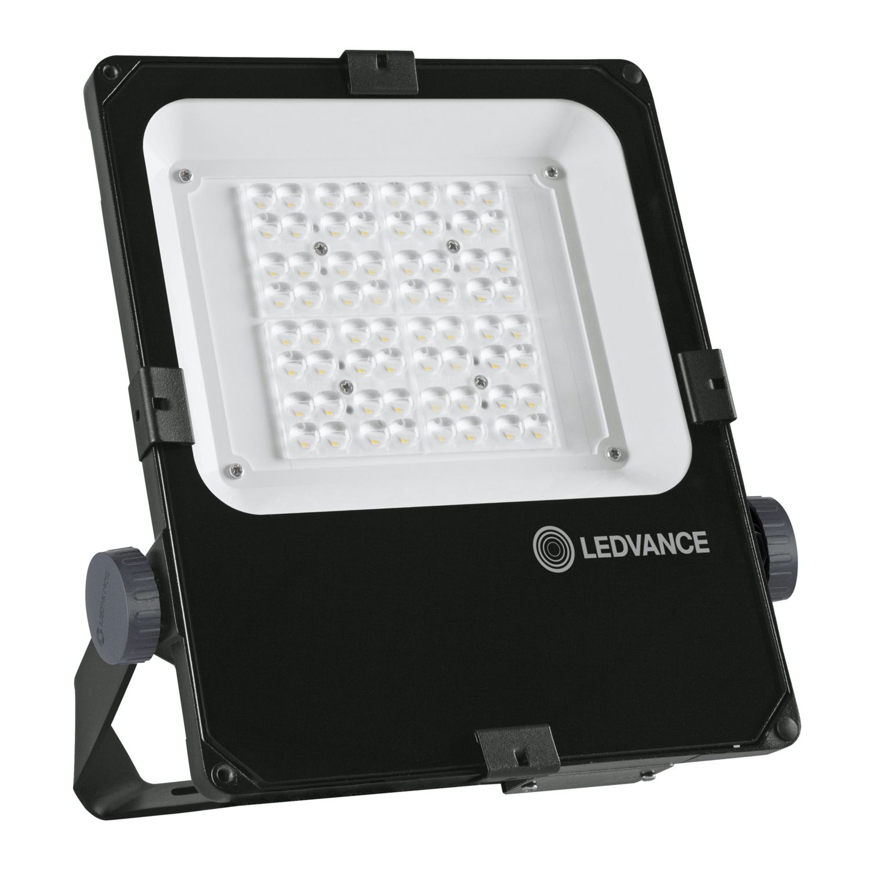 LEDVANCE LED Strålkastare 50W 4000K 6300lm IP66 Svart | Asymmetrisk