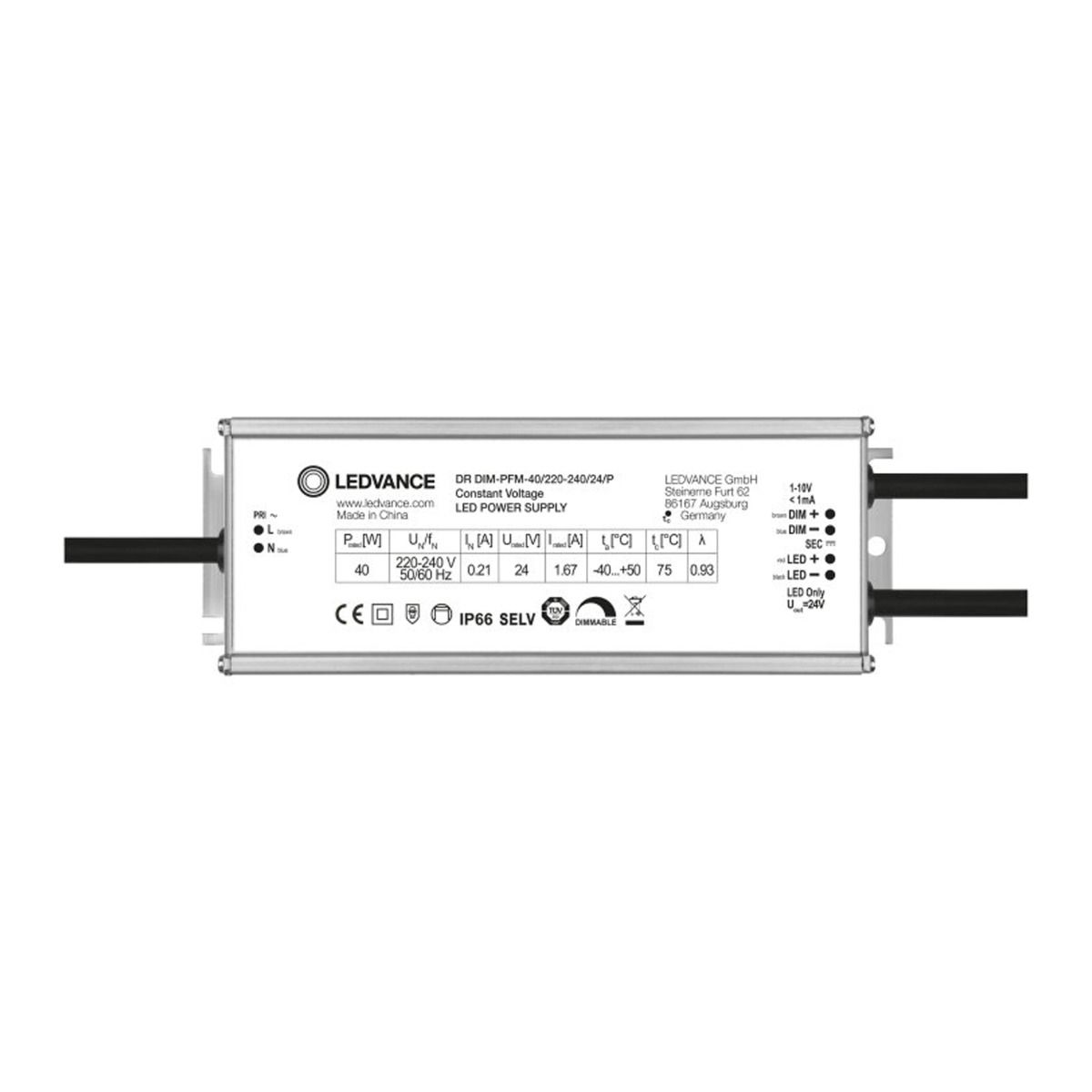 Ledvance LED Driver Buiten Performance 40/220-240/24/P