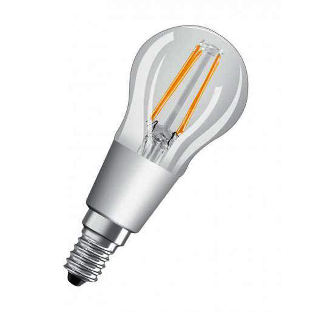 Osram Superstar GLOWdim Classic E14 P45 5W 827 470lm Fadenlampe | Dimmbar - Extra Warmweiß - Ersatz für 40W