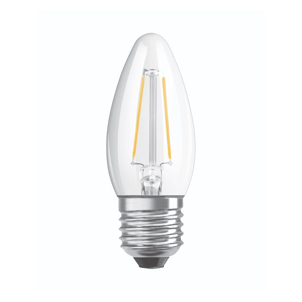 Osram Parathom Retrofit Classic E27 B35 5W 827 470lm Clear | Dimmable - Extra Warm White - Replaces 40W
